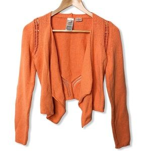 Anthropologie Moth Knit Open Front Cardigan
